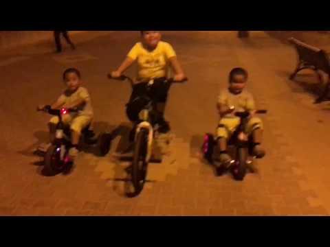 BIKE RACING (Kids Fun) at Egaila Beach FREE KUWAIT. 22.09.2017