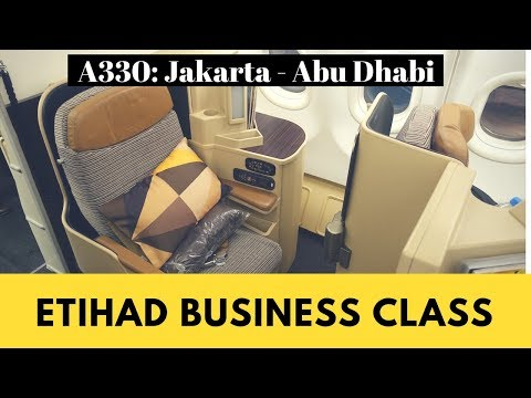 PART 2: BUSINESS CLASS from Jakarta to Abu Dhabi | Trip Report