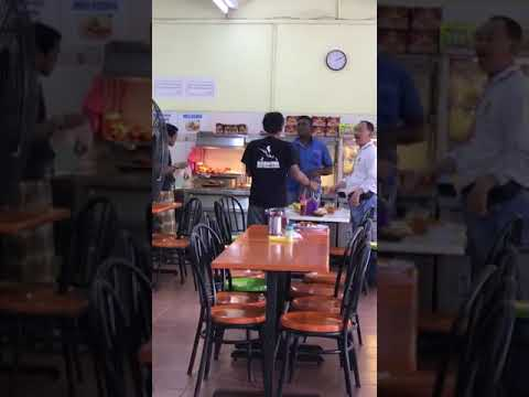 Fight in Malaysia Restaurant Real video watch till end.