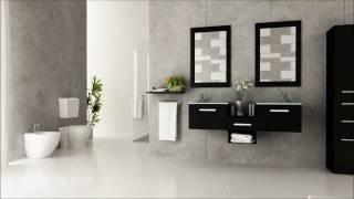 """58"""" Estrella Glass Bath Vanity By Bathgems.com"""