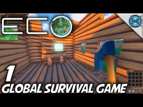 Eco | EP 1 | Global Survival Game | Let's Play Eco Gameplay (S-1)