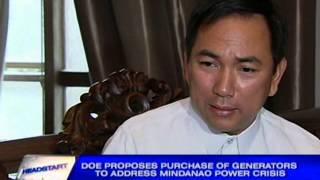 DOE proposes purchase of generators to address Mindanao power crisis