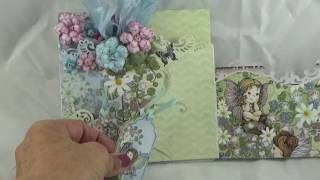 Heartfelt Creations Wildwood Cottage Collection Foldout Card