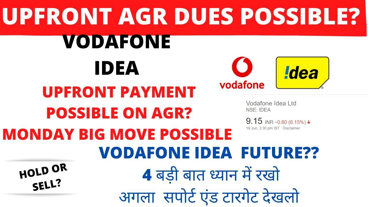 Vodafone idea share news   Upfront AGR Possible? 🔥  Idea ...