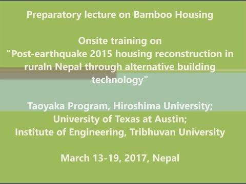 Lecture 1 Bamboo Housing Mr Nripal Adhikary