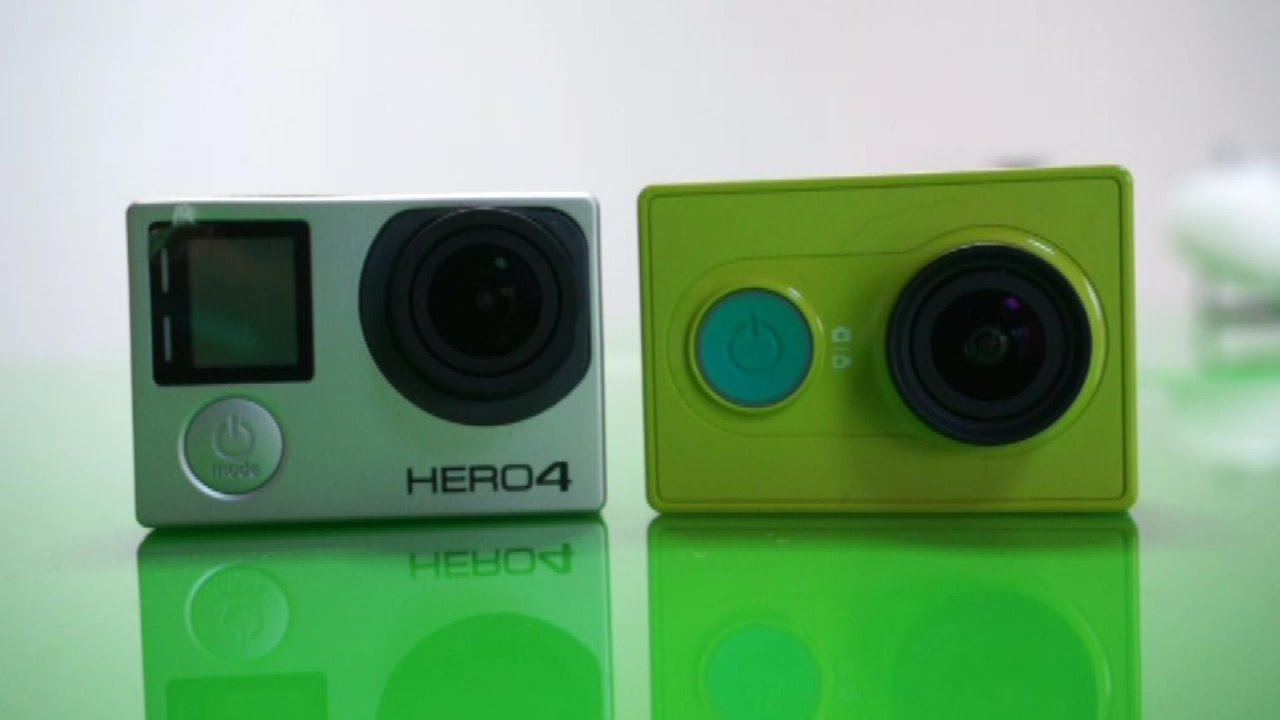 GoPro 4 Vs Xiaomi Yi Action Sports Camera