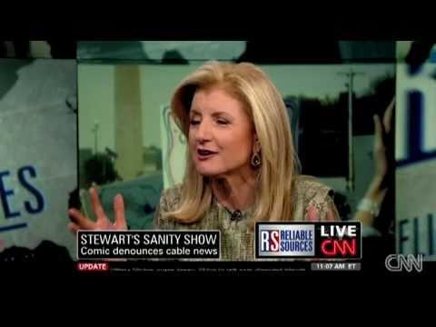 Huffington on Her Astroturfing Stewart/Colbert