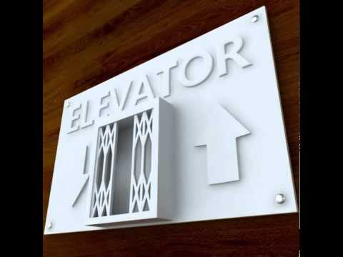 3d Printable Elevator sign STL OBJ 3D print model from CGTrader com