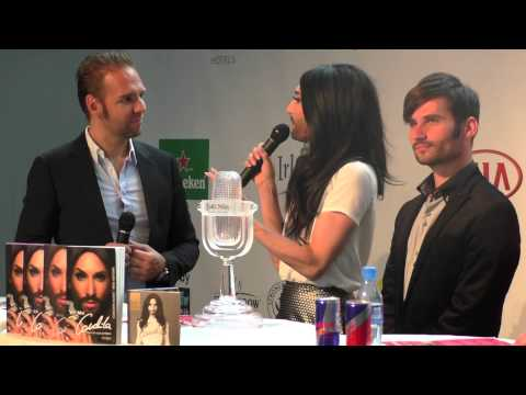Eurovision Ireland attends the Vienna Eurocafe opening and Conchita Wurst's album and book launch
