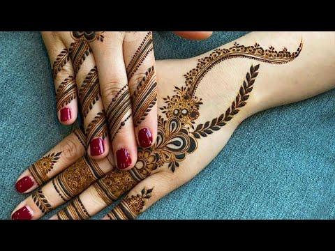 نقش حناء جميل على اليد وموديل جديد شاهدو للاخر رائع Henna Drawing On Hand Is Beautiful Youtube