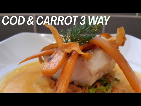 How To Cook Cod Fillet /Pan Fried Cod Fillet With Carrot