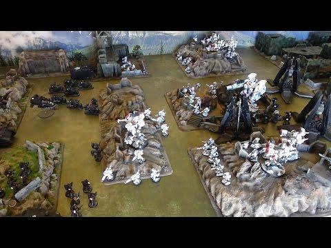 Warhammer 40K Battle Report Tau vs Space Marines 2500