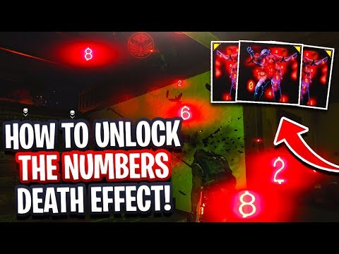 HOW TO UNLOCK THE NUMBERS: NUMBERS DEATH EFFECT EASY UNLOCK (COD BO4 THE NUMBERS REWARDS)