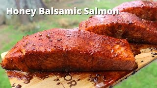 Grilled Salmon | Honey Balsamic Grilled Salmon on Cedar Planks Grilled on Big Green Egg