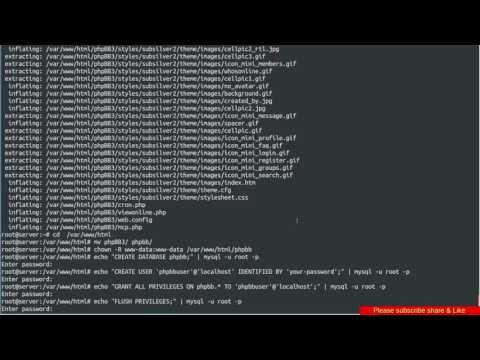 How to install phpBB 3 on ubuntu Linux