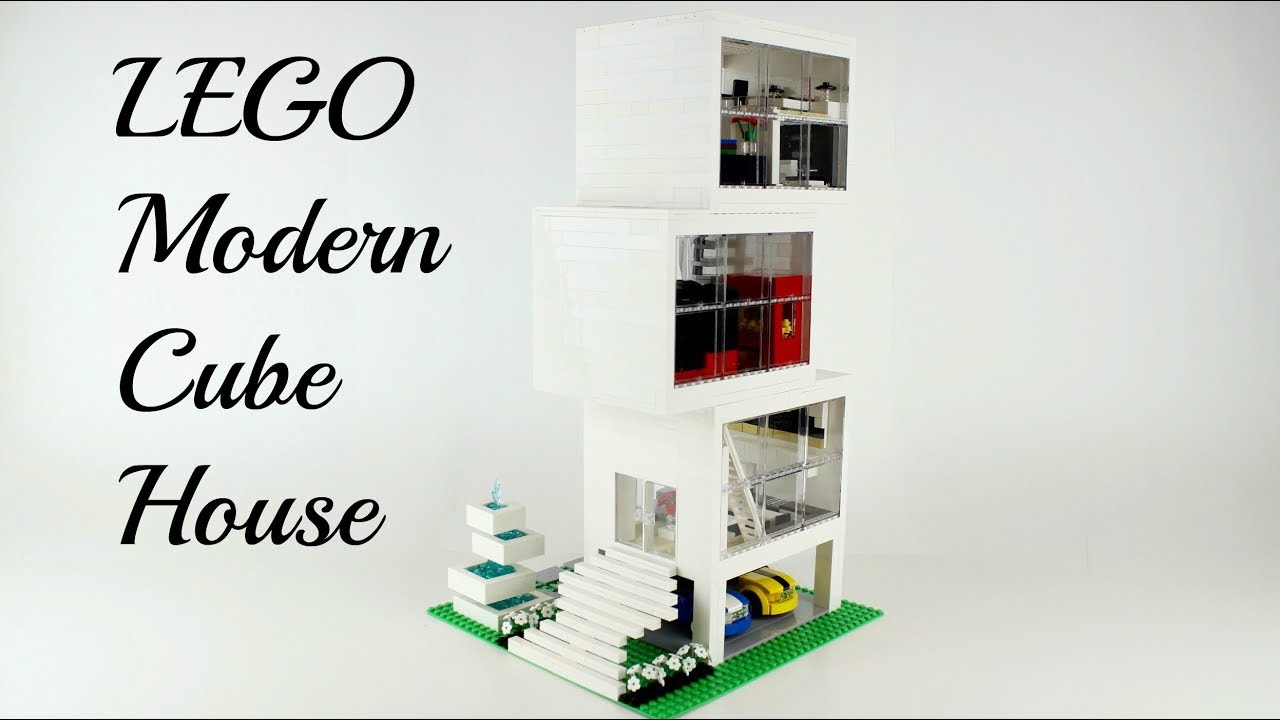 LEGO Modern Luxury Cube House w/ Home Theater :)