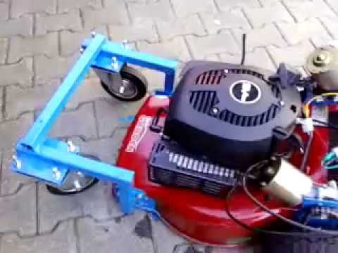 how to make a remote control lawn mower