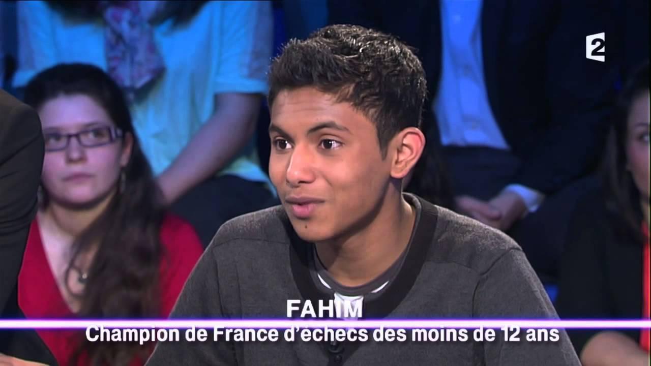 Fahim, le petit roi des échecs clandestin - On n'est pas couché - 15 février 2014 #ONPC