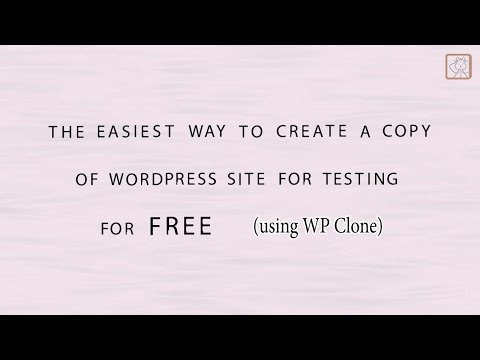 How to clone website for testing easy and free (on subdomain, using WP Clone)