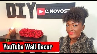 How to make a Personalized YouTube RED 💎 Button Backdrop | DIY Canvas Wall Decor | Chanelle Novosey
