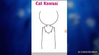 Desenho para Gustavo- Cat kawaii