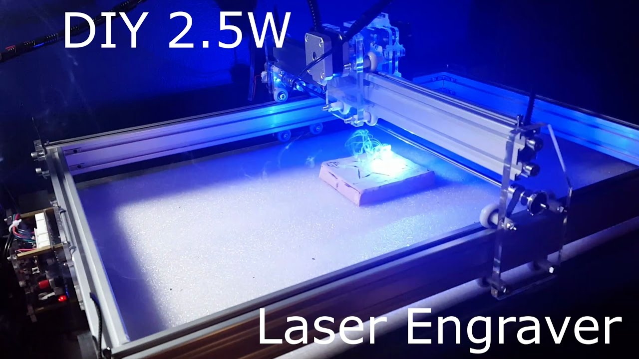 Inexpensive Home DIY 2 5W Laser Engraver