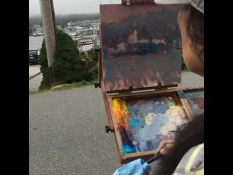 #5 20 Minute Quick Study Booth Bay Harbor Painting September 8