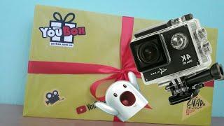 Открываем коробку блогера с сайта You Box!!!Попалась ЭКШН Камера😀
