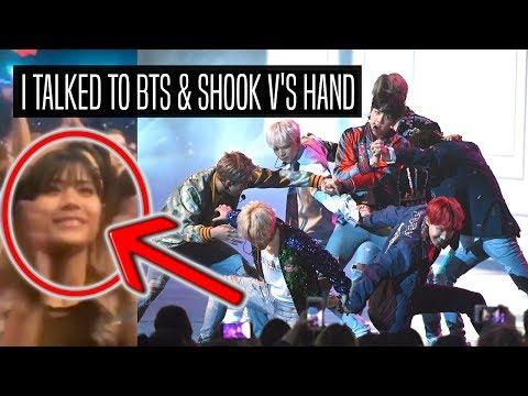 I TALKED TO BTS & SHOOK V'S HAND AT AMAs!