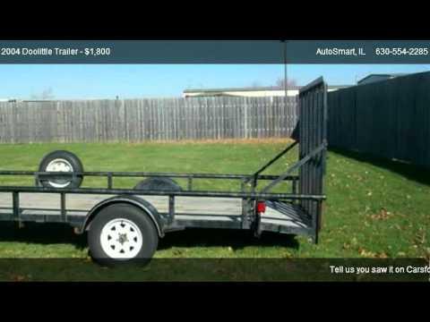 2004 doolittle utility trailer used car dealership oswego il autosmart youtube. Black Bedroom Furniture Sets. Home Design Ideas