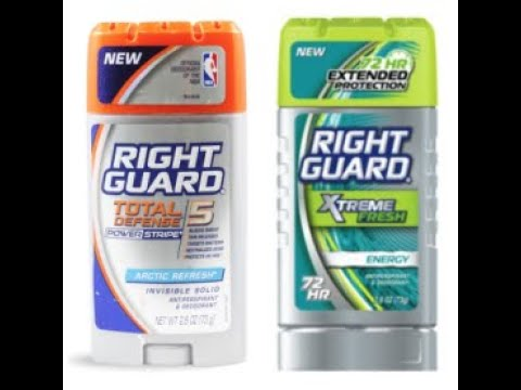 Right Guard Total Defense 5 Power  Stripe Anti-Perspirant Deodorant for  Men - Quick Review | How To