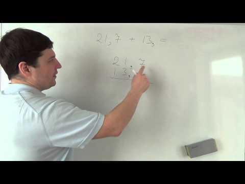Как сложить десятичную дробь и натуральное число