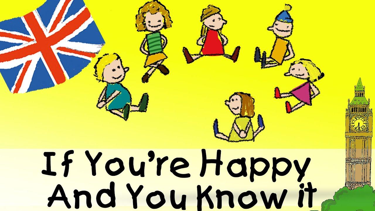 If Youre Happy And You Know It Englische Kindergarten Lieder Kinderlieder
