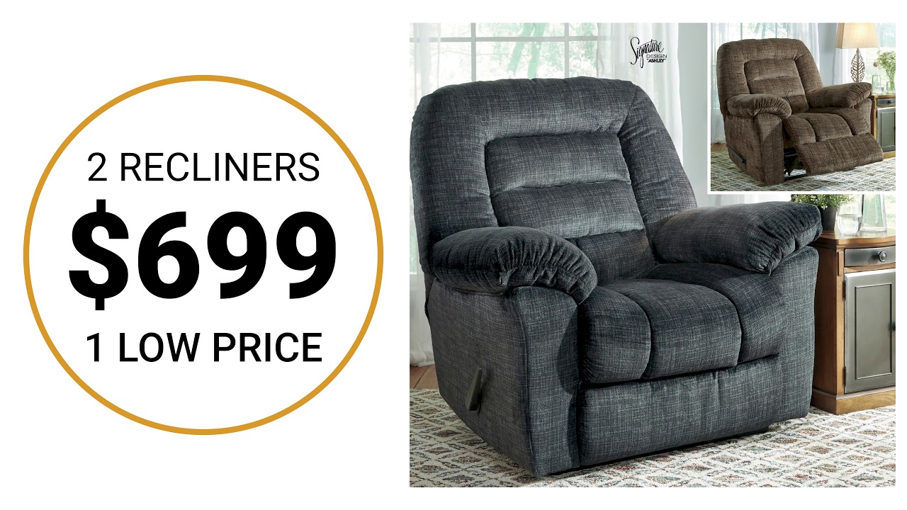 2 FOR 1 RECLINER SALE - YouTube