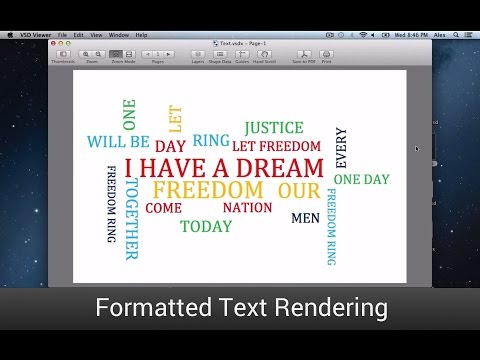 Visio Viewer for Mac - Text Rendering