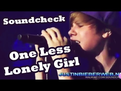 One Less Lonely Girl Walmart Soundcheck LIVE Justin Bieber [w/Download Link] (: