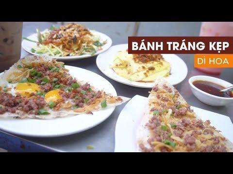 Lần đầu ăn bánh tráng kẹp RẶT siêu lạ ở Sài Gòn