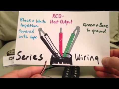 Dimarzio Humbuckers Series vs Parallel Wiring - YouTube