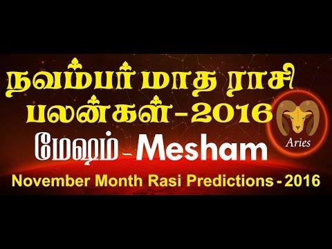Mesham Rasi (Aries) November Month Predictions – Rasi Palangal