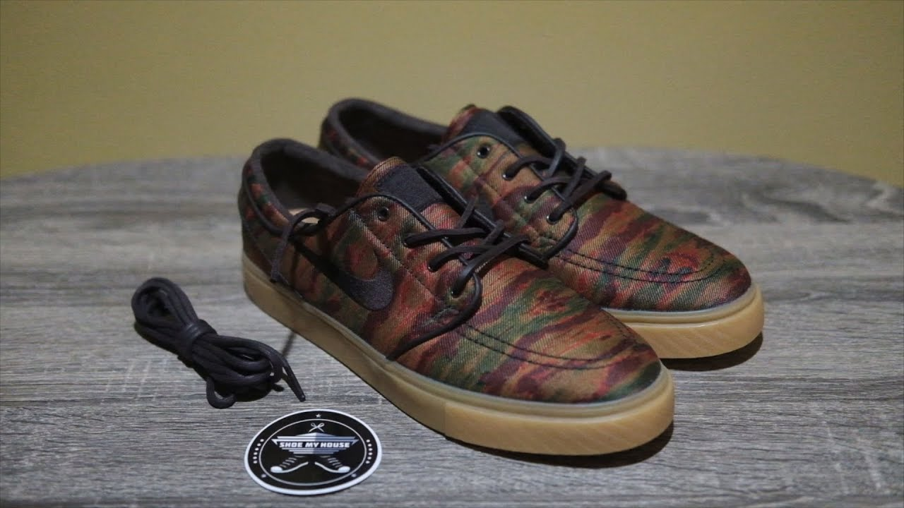 fondo loseta Embajada  Unboxing - Nike SB Stefan Janoski Velvet Brown Multicolor gum - YouTube