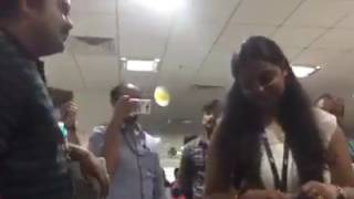 Vandanam proposing scene live performance in office