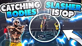 slasher goes savage on them   nba 2k17 mypark   takeover at house rules   crazy dunks crazy games