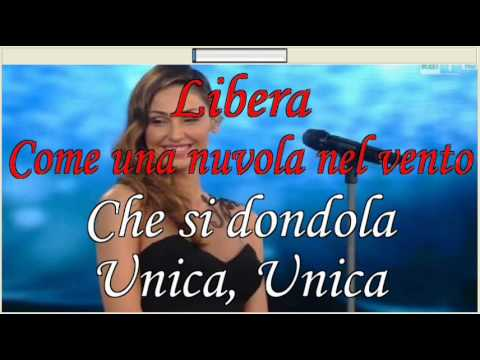 Libera Anna Tatangelo Karaoke Sanremo 2015 (Base al piano con testo) - YouTube