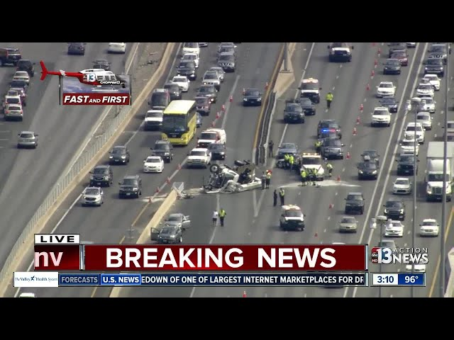 Multiple vehicles involved in crash on I-15 - YouTube