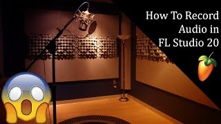 How to record audio in FL Studio 20 | Turn on and off direct monitoring
