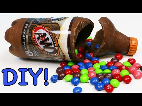 How to Make Chocolate ROOT BEER Bottle Fun & Easy DIY Chocolate Soda Bottle Project!