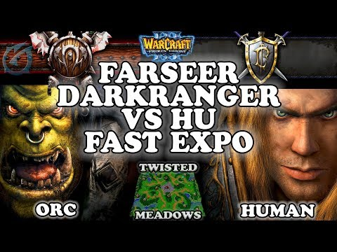 Grubby | Warcraft 3 TFT | 1.29 | ORC v HU on Twisted Meadows - Farseer Darkranger vs HU Fast Expo