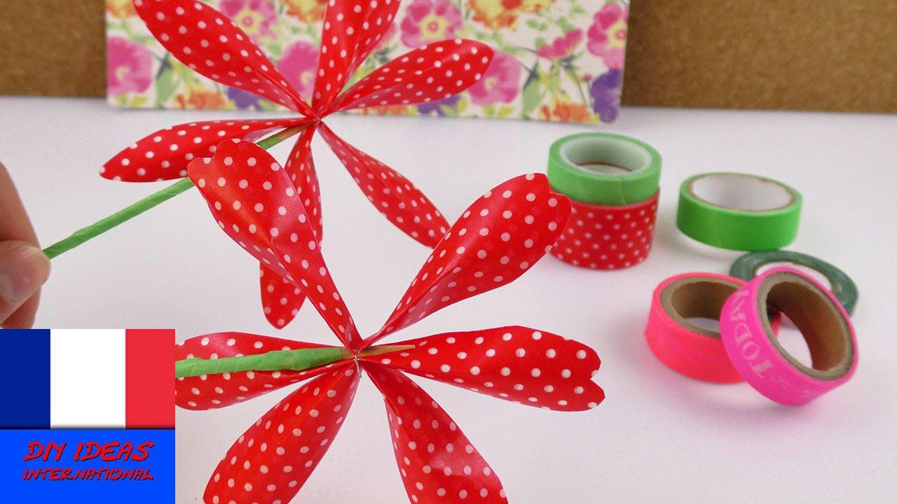 Idée Cadeau Anniversaire A Faire Soi Meme se rapportant à fleur en washi tape à faire soi-même   déco pour votre chambre