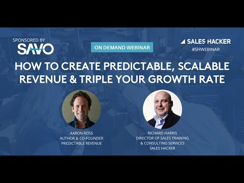 How to Create Predictable, Scalable Revenue and Triple Your Growth Rate