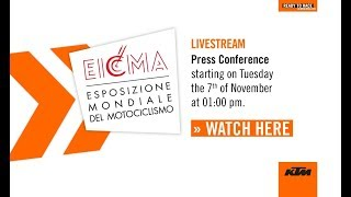KTM Press conference EICMA 2017 Livestream Record